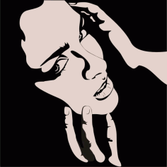 Female Clip Art Silhouette m2 Free CDR Vectors Art