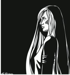 Female Clip Art Silhouette m10 Free CDR Vectors Art