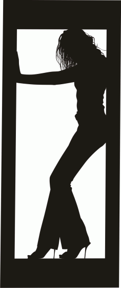 Female Clip Art Silhouette m16 Free CDR Vectors Art