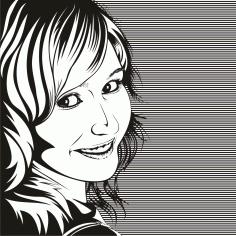 Female Clip Art Silhouette m17 Free CDR Vectors Art