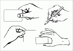 Artwork Design Elements Hand Icons Black White Handdrawn Free CDR Vectors Art