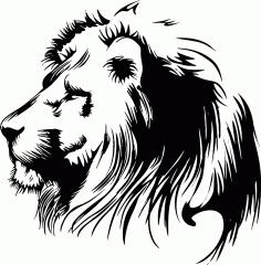 Hand Drawn Lion Head Free CDR Vectors Art