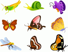 Insect Icons Collection Various Types Free CDR Vectors Art