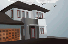 Villa Model 286700 Free CDR Vectors Art