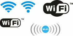 Wifi Design Elements Logos Free CDR Vectors Art