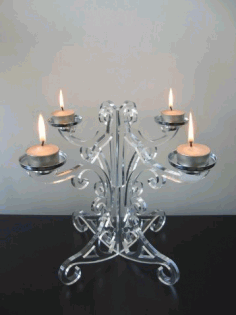 Glass Candle Holder Free CDR Vectors Art