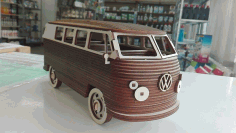 Laser Cut Vw Camper Van Free CDR Vectors Art