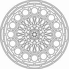 Mandala Des Round Free CDR Vectors Art