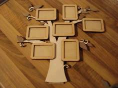 Photo Frame Tree Free CDR Vectors Art