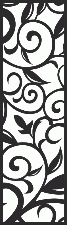 Seamless Laser Cut Floral Pattern Free CDR Vectors Art