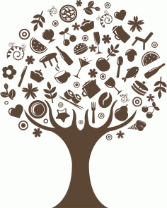 дерево на кухню Tree Free CDR Vectors Art