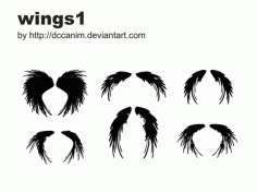 Dccanim Wings1 Free CDR Vectors Art