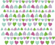 Heart corazones multicolor Free CDR Vectors Art