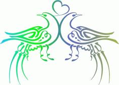 Ottoman Calligraphy – Birds Free CDR Vectors Art