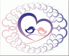 Love Birds (Shape Of My Heart) Free CDR Vectors Art