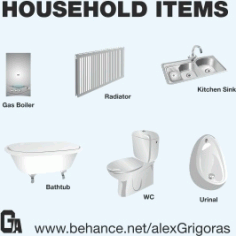Household Items Collection Free CDR Vectors Art
