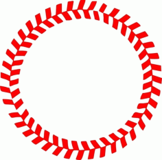 Baseball Stitches in a Circle Free CDR Vectors Art