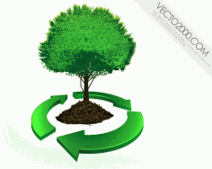 Recycle concept Free CDR Vectors Art