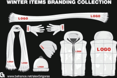 Winter Items Branding Collection Free CDR Vectors Art