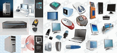 Electronic devices icons collection Free CDR Vectors Art