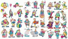 Clown set 156550 Free CDR Vectors Art