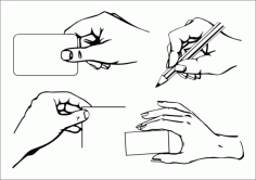 Practical gesture Free CDR Vectors Art