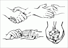 Practical gesture hands Free CDR Vectors Art