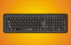 Drew their own keyboard Free CDR Vectors Art