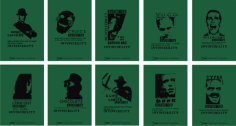 Movie characters silhouette cards Free CDR Vectors Art