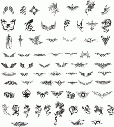 Tattoo totem Free CDR Vectors Art