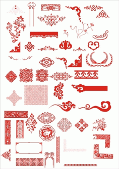The chinese classical boutique pattern Free CDR Vectors Art