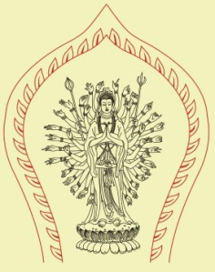 Vector avalokitesvara line drawings Free CDR Vectors Art