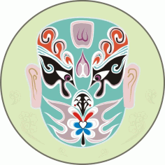 Traditional chinese mask Free CDR Vectors Art