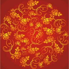 The wealth rose pattern background Free CDR Vectors Art