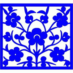 Cnc Panel Laser Cut Pattern File cn-l188 Free CDR Vectors Art