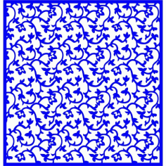 Cnc Panel Laser Cut Pattern File cn-l184 Free CDR Vectors Art
