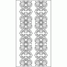 Cnc Panel Laser Cut Pattern File cn-l161 Free CDR Vectors Art