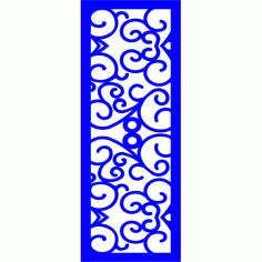 Cnc Panel Laser Cut Pattern File cn-l103 Free CDR Vectors Art