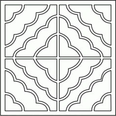 Cnc Panel Laser Cut Pattern File cn-l98 Free CDR Vectors Art