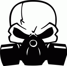 Skull Decal With Gas Mask Free CDR Vectors Art