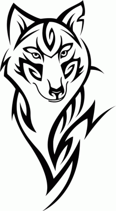 Wolf Head Tattoo Design Free CDR Vectors Art