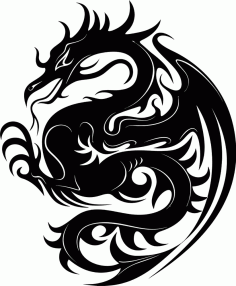 Dragon Stencil Big Free CDR Vectors Art