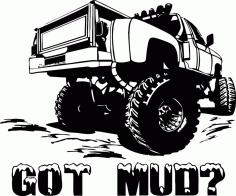 Got Mud Sticker Vehicle Free CDR Vectors Art