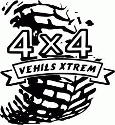 4×4 Sticker Vehicle Free CDR Vectors Art