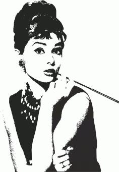 Audrey Hepburn Girl Free CDR Vectors Art