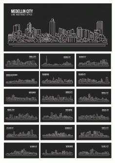 City Line Landscape Free CDR Vectors Art