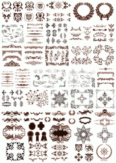 Assorty Decor Set Free CDR Vectors Art