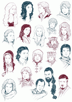 Game Of Thrones Cast Free CDR Vectors Art