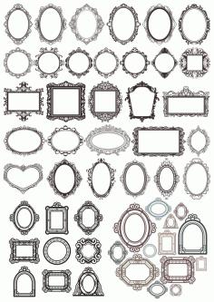 Frame Set Free CDR Vectors Art