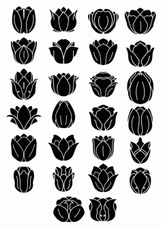 Black Flowers Free CDR Vectors Art